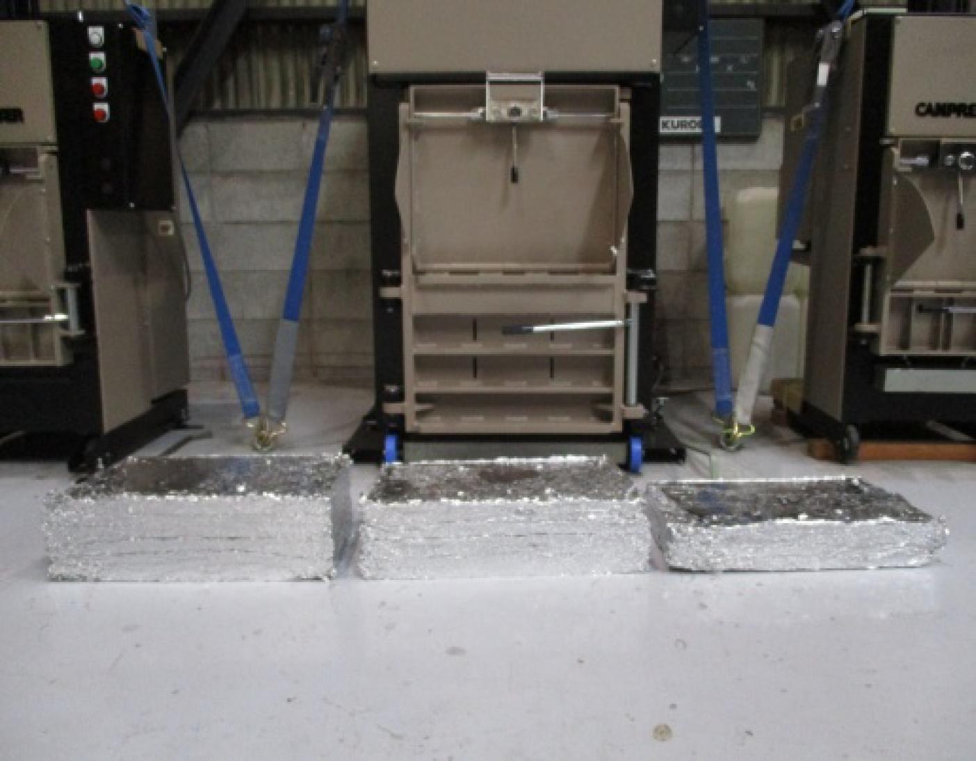 カンプレッサー5型 各圧縮物