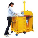 カゴ分離式圧縮減容梱包機 リサイクルコンパクターCL46