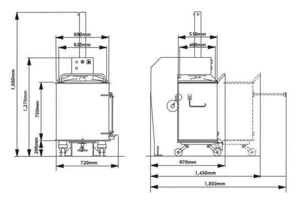 カゴ分離式圧縮減容梱包機 リサイクルコンパクターCL46の仕様